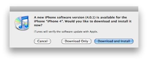 Обновление iOS 3.2.1 для iPad и iOS 4.0.1 для iPhone