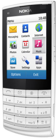 Nokia X3 Touch and Type - первый сенсорный телефон с Series 40 для международного рынка